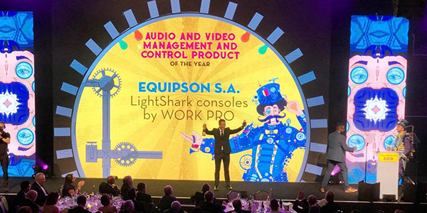 Equipson wins two AV Awards with LightShark consoles