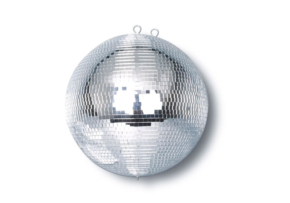 WHITE MIRROR BALL 16