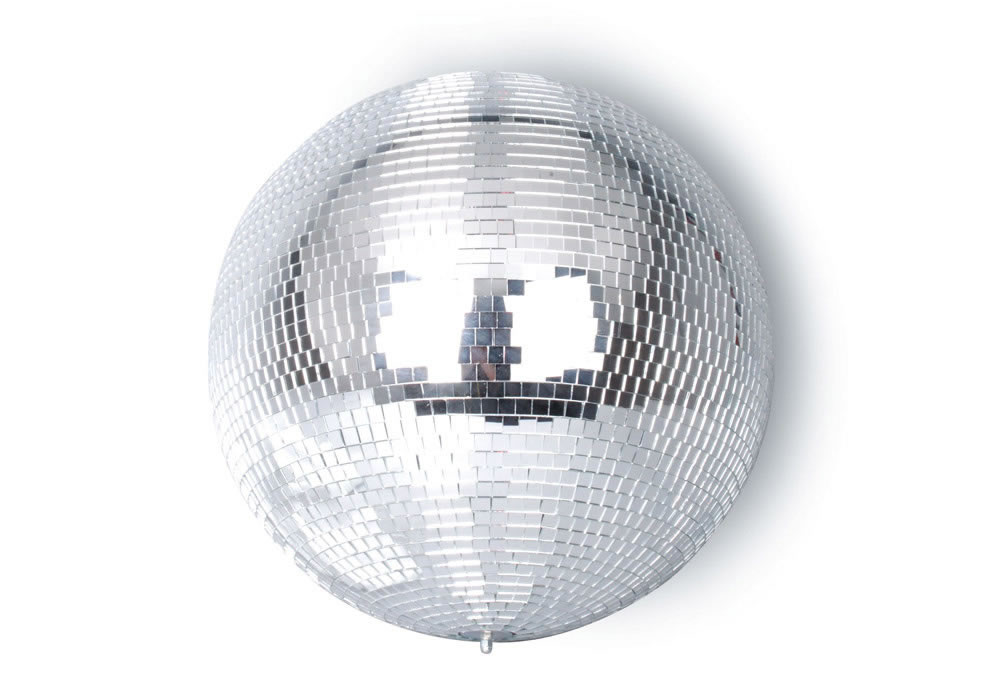 WHITE MIRROR BALL 20