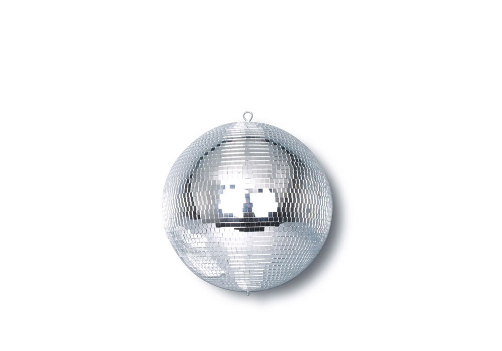 WHITE MIRROR BALL 8
