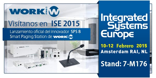 Meet the innovative Smart Paging Station 8 by WORK PRO at ISE 2015