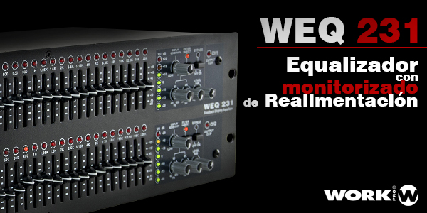 WEQ 231, the new WORK PRO equalizer with feedback alert