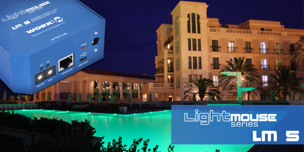 LM 5 lights up in colour the luxurious Las Arenas Hotel-Spa