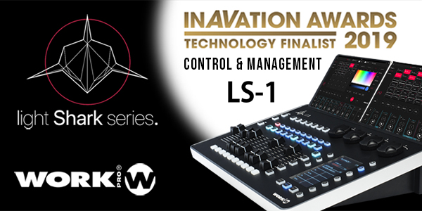 LightShark LS 1 Console receives a nomination for the InAVAtion Awards 2019