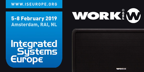 WORK PRO unveiled new sound reinforcement and Audio over IP products at ISE 2019
