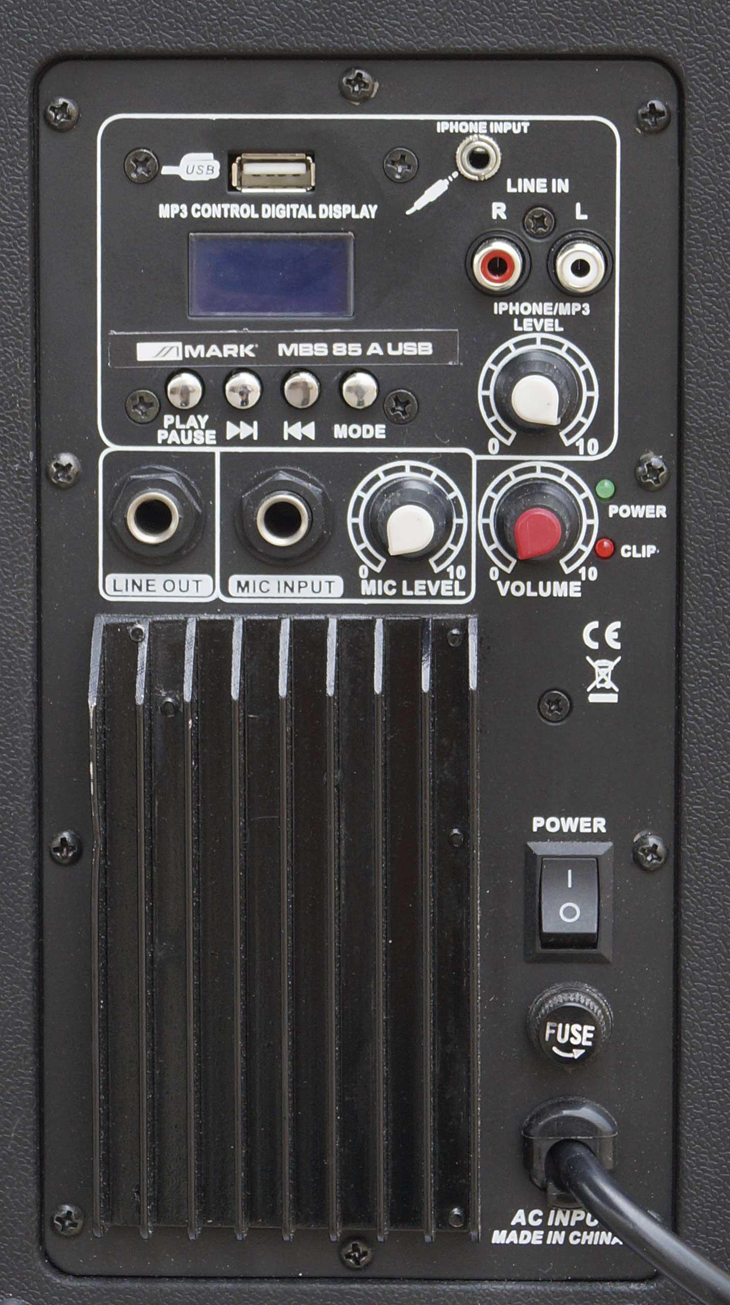 MBS 85A USB Trasera