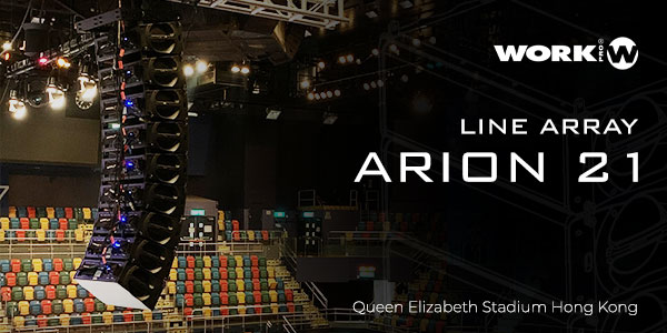 WORK PRO ARION 21 Line array debuta en Hong Kong