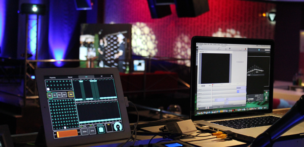 AlterEvent anniversary gala dinner to be controlled by LM 5 and iPAD