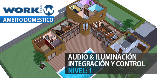 Audio and lighting integration in the domestic area - Level 1