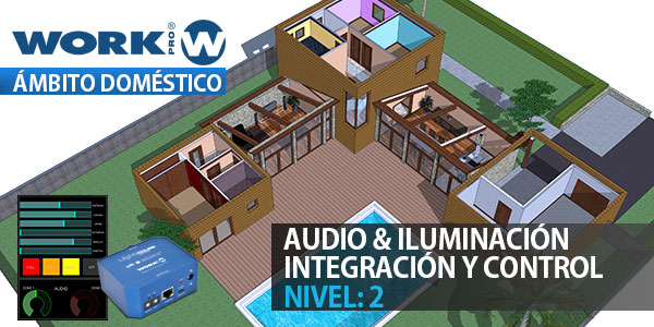 Audio and lighting integration in the domestic area - Level 2