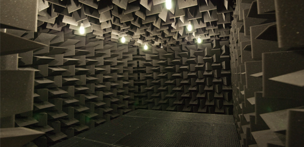 Equipson builds its own anechoic chamber.
