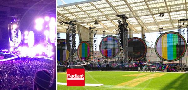 Linx 12F de Radiant en la gira de Coldplay