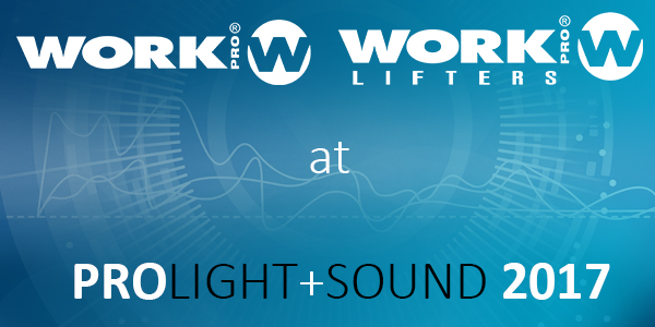 WORK PRO and WORK LIFTERS  at Prolight & Sound 2017