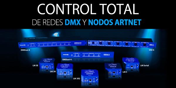 CONTROL TOTAL DE DMX Y NODOS ARTNET